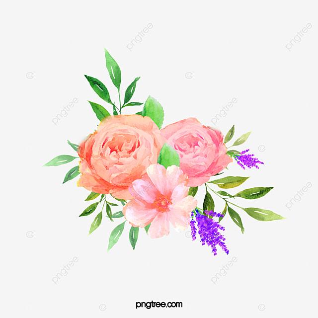 Bouquet de fleurs aquarelle for Aquarelle fleurs livraison gratuite