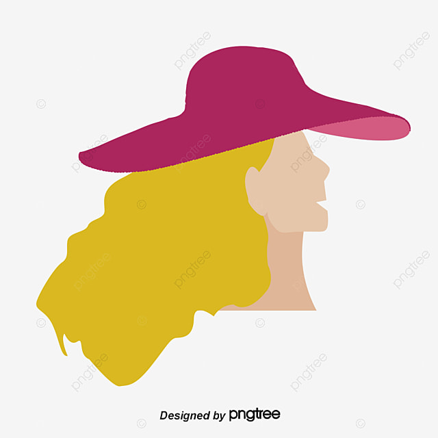 Chica Que Llevaba Un Sombrero De Paja La Gente De Ilustración ...