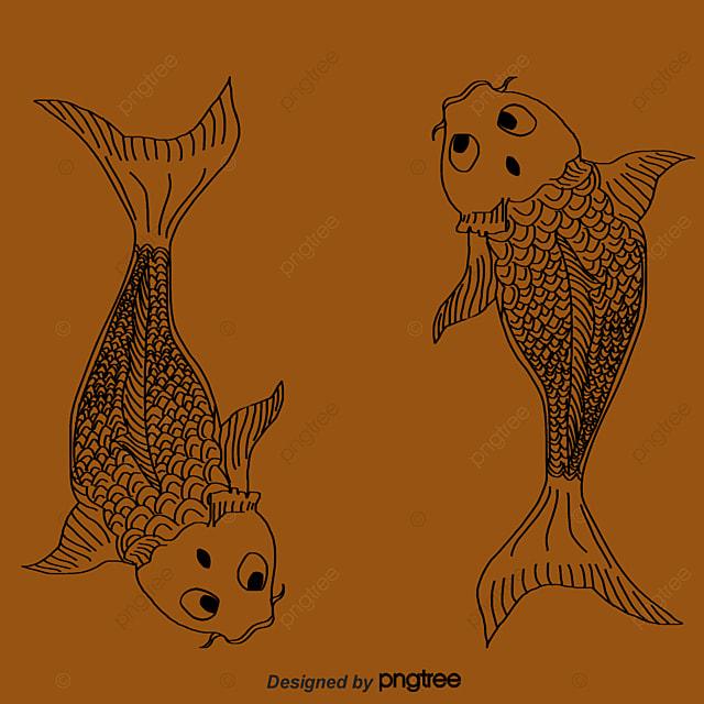 Carp decorative motifs carp fish hand painted fish png for Decorative carp