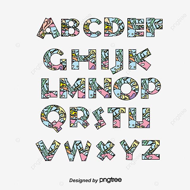 26 fruits and vegetables letter design vector letter vector