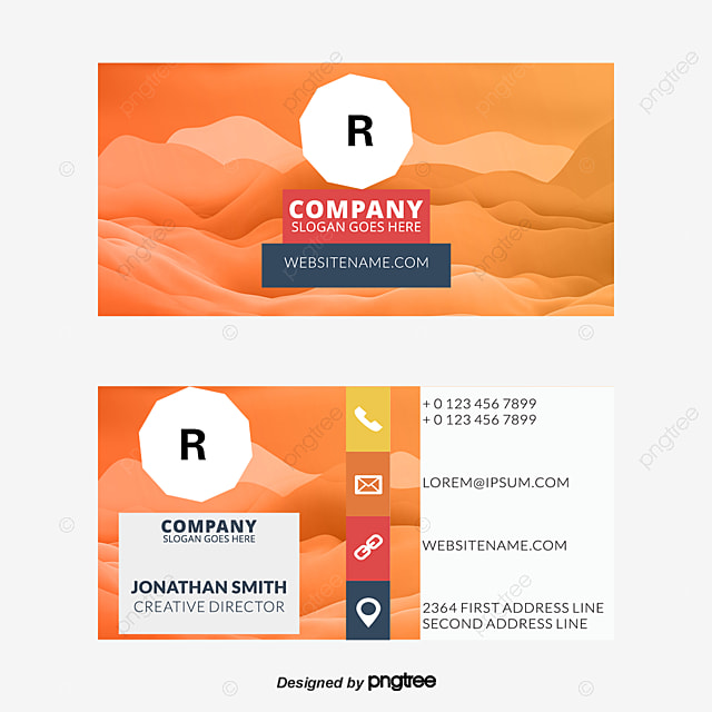 Business Card, Colorful Business Card, Simple Business Cards ...