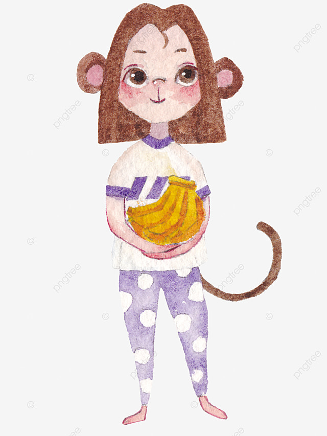 le petit singe de cartoon dessin singe animal image png