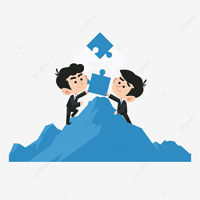 business partners and friendly cooperation business vector clay