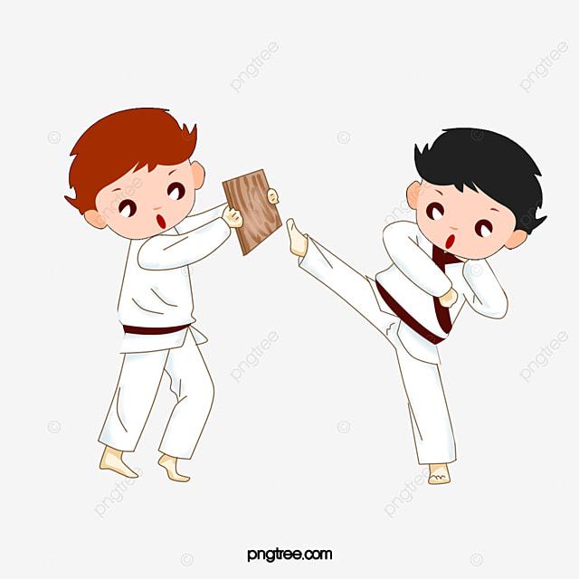 les enfants de la pratique le judo dessin illustration