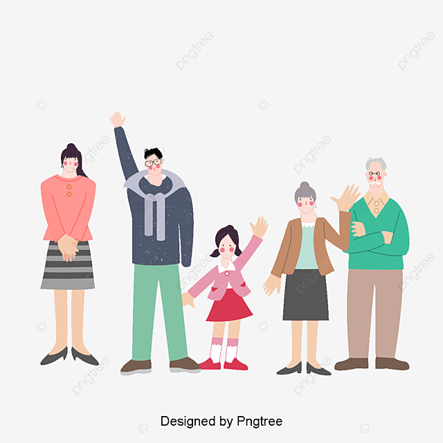 Happy Family Vector, Family Clipart, People Illustration ...