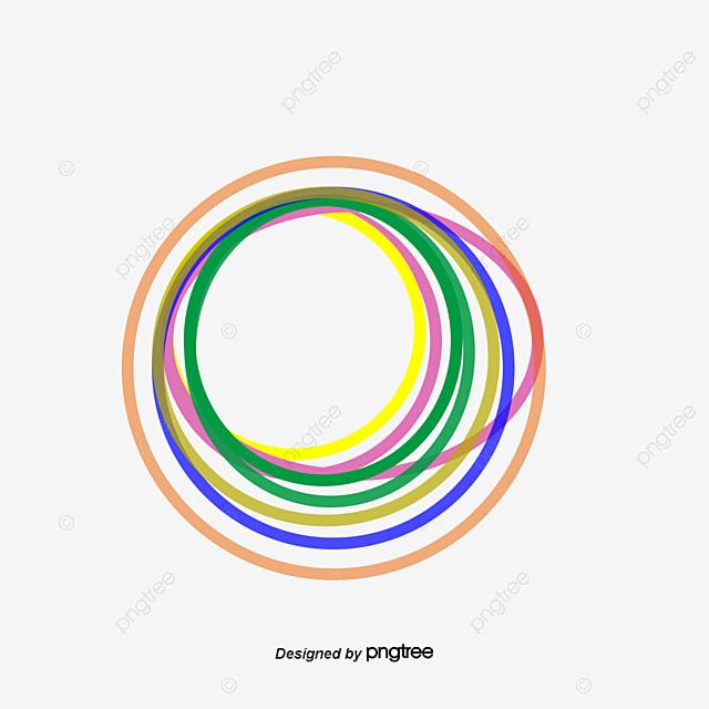 vector mano circulos de colores vector pintado a mano