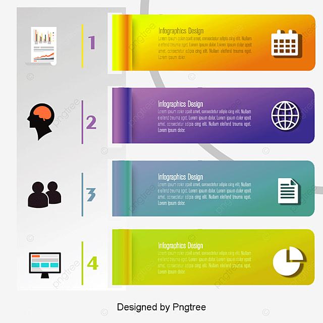 Beautiful 3d Infographics Design Vector Material, 3d