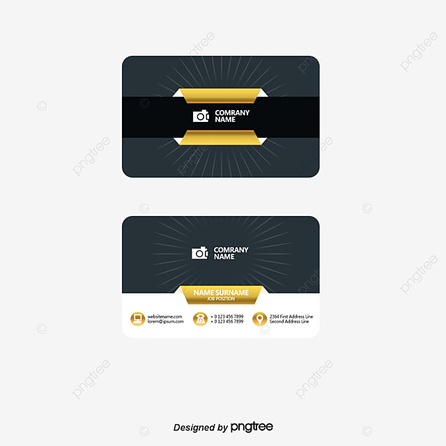 Vector Gold Frame Business Card, Business Card, Business Cards ...