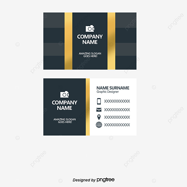 Vector gold frame business card, Simple Business Cards, Personalized ...