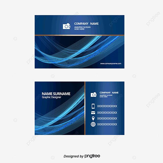 vector azul tarjeta de negocio gratis png y vector
