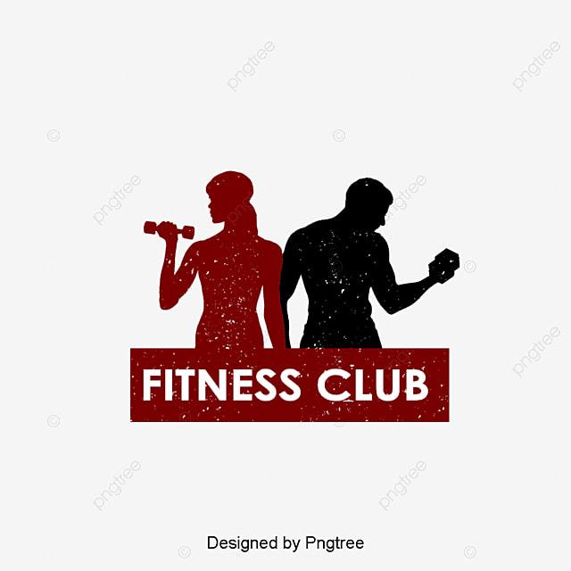 Фитнес клуб силуэт