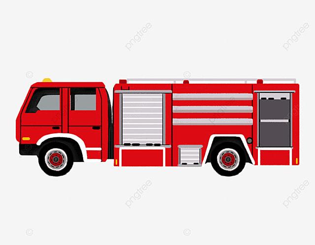 وضع اليد حريق شاحنة الكرتون الرسوم المتحركة من ناحية رسم كرتون النقل كارتون شاحنة النار Png وملف Psd للتحميل مجانا