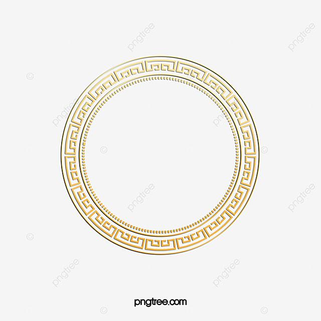 فريم الذهبي فريم الدوائر PNG وملف PSD للتحميل مجانا