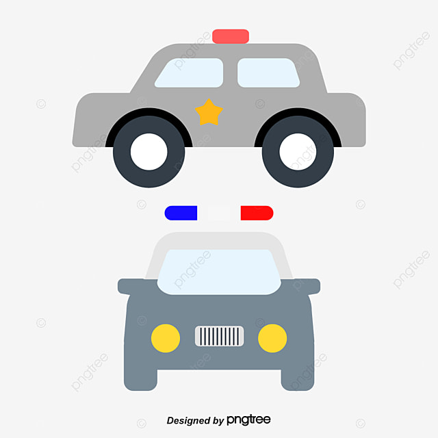 dessin de la voiture de police dessin chariot voiture de