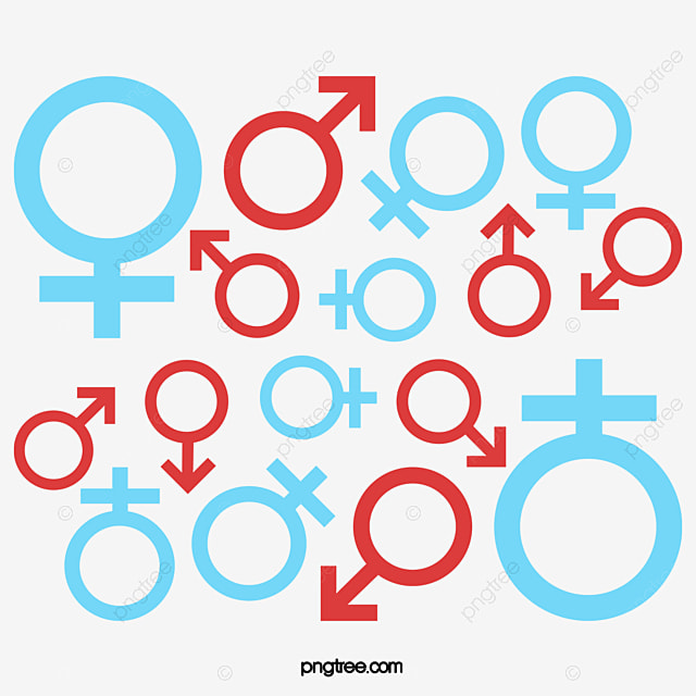 Sex Symbols Vector Background Men And Women Mark Symbol Png And