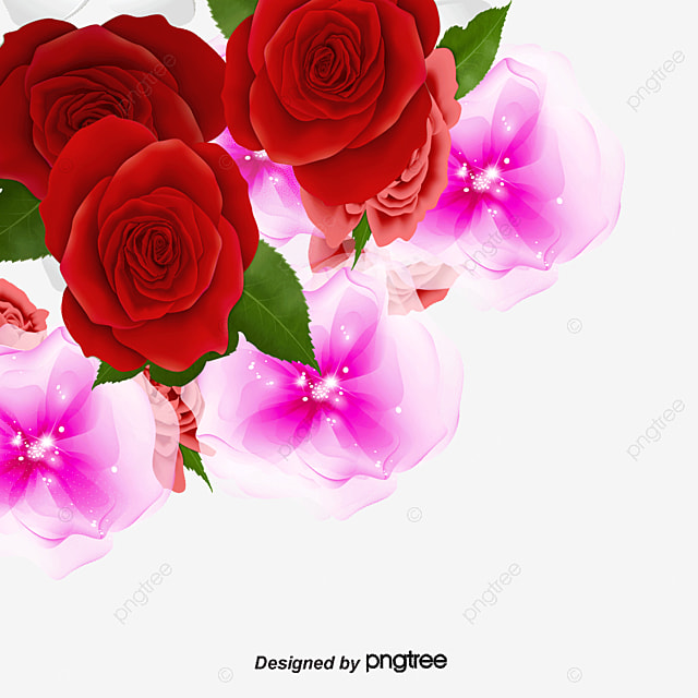 Rose Flowers Background Png
