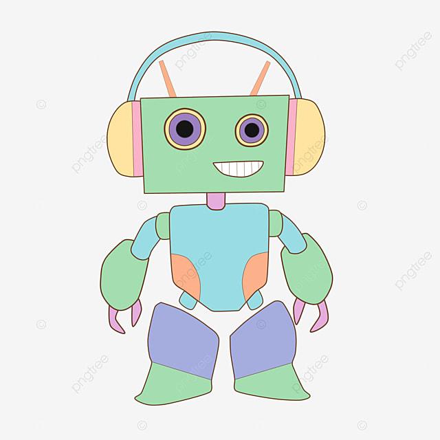 Vector Electronic Components Robotics Cartoon Robot Vector Robot