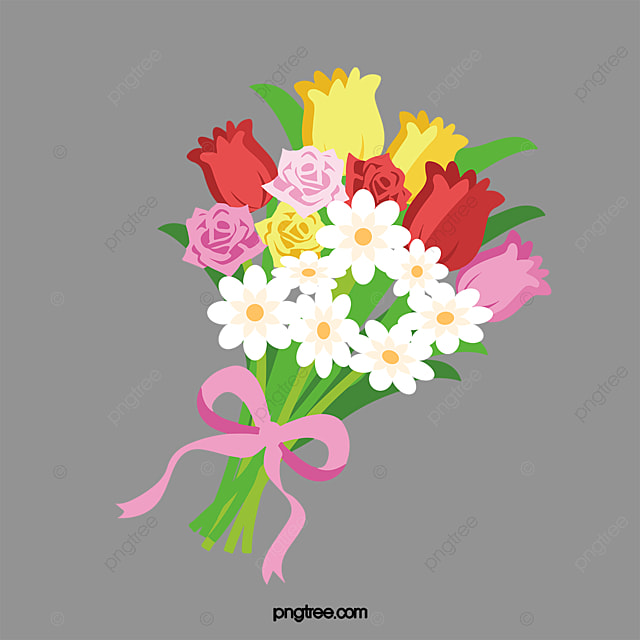 hand painted flower bouquet hand painted flower bouquet png image rh pngtree com flower bouquet clip art free images flower bouquet clipart images