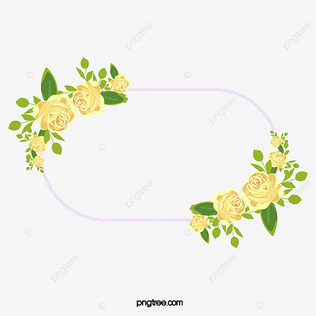 Yellow Peony Flower Border Corner Flower Clipart Corner Clipart
