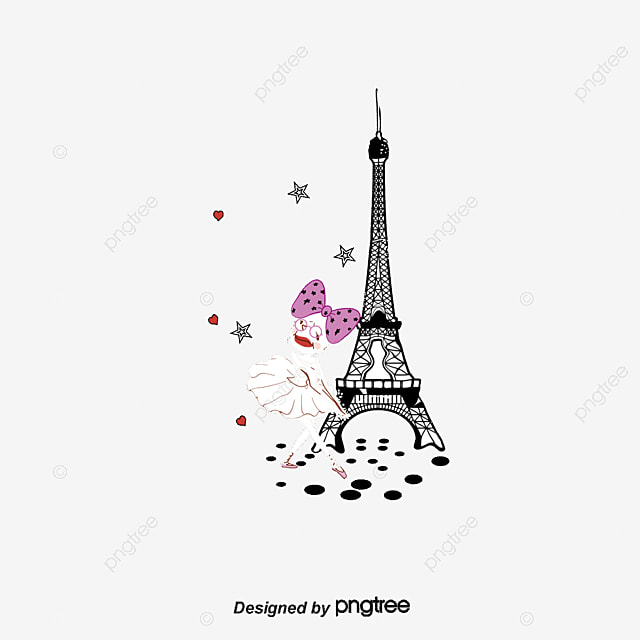Vector Girl Under The Tower In Paris_1086831 on Rock Cycle Clipart