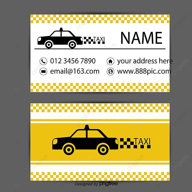 Un Taxi De Cartes Visite Gratuit PNG Et Vecteur