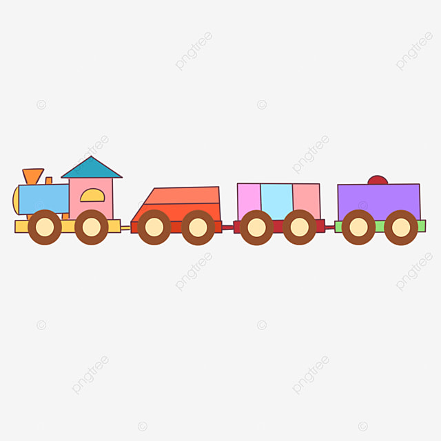 Cartoon train creative small png and psd