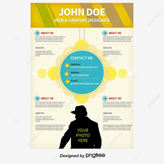 yellow blue cv english translation resume png and psd