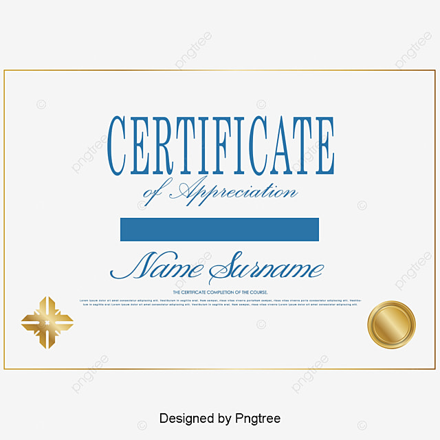 Simple Certificate Certificates Design Vector Material Certificate