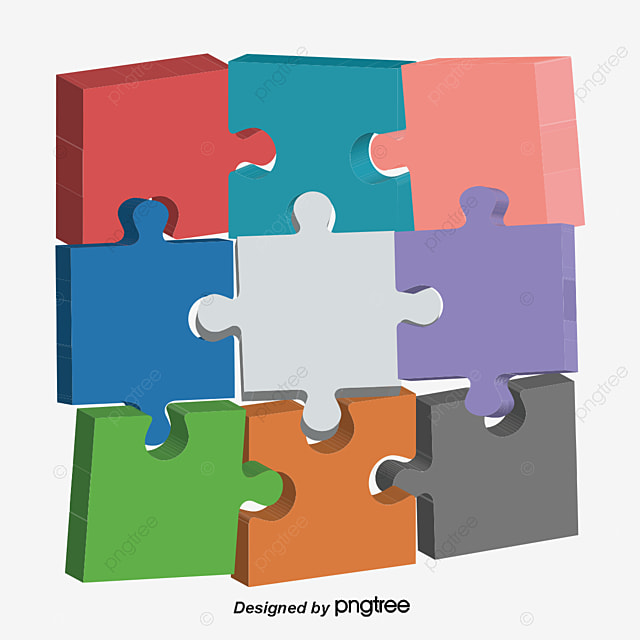 Creative Colorful Puzzle Color Icon Jigsaw PNG And Vector