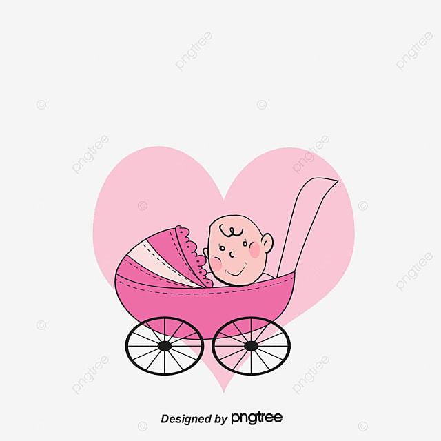 Carrinho De Beb 234 Do Vetor Baby Beb 234 Dos Desenhos