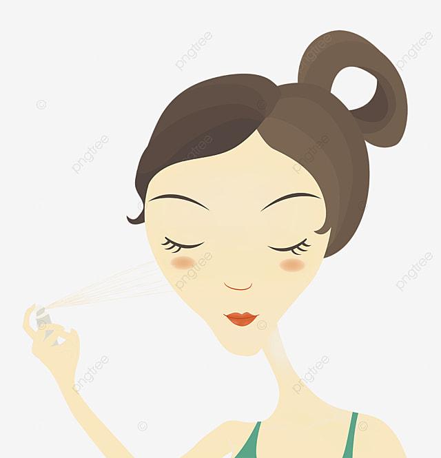 dessin de la main de maquillage la main de soin de la peau processus pour le soin de la peau