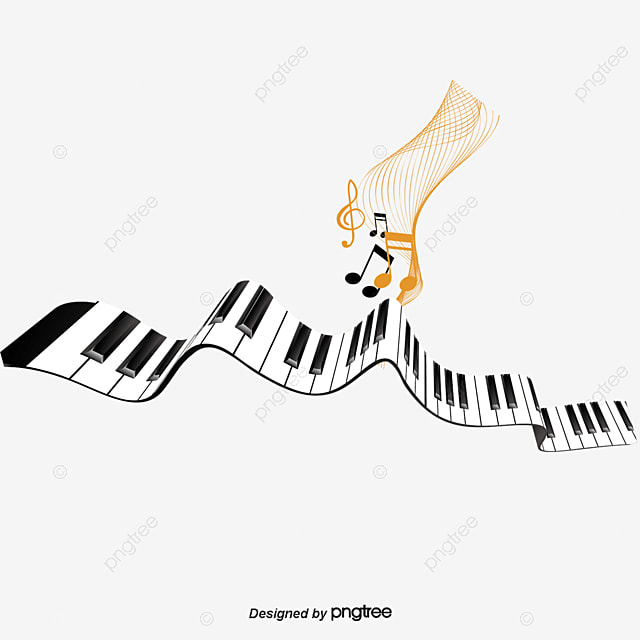 vector de piano y notas musicales piano nota vector