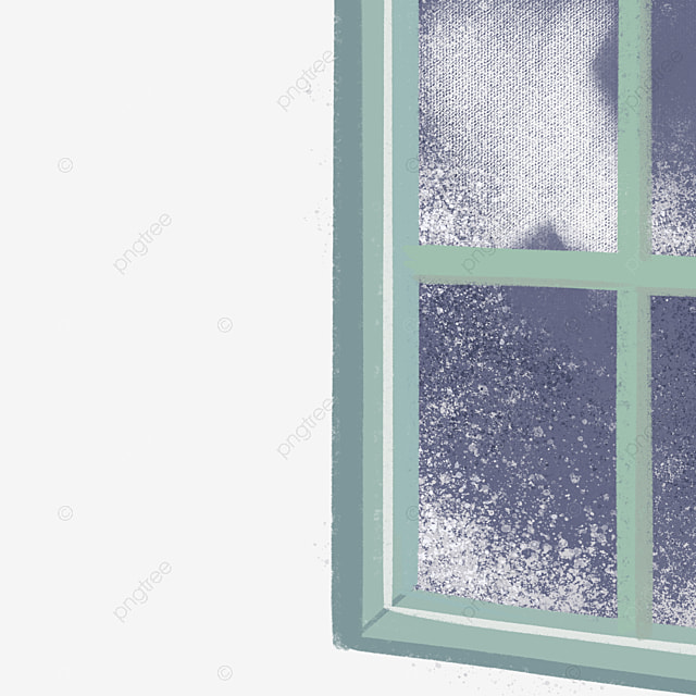 Half open window a rose wood retro png image and for Window design cartoon