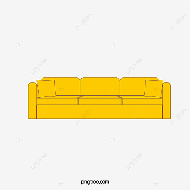 Sofa Yellow Leather Png Image And Clipart