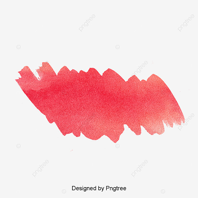 Red Watercolor Effect Color Drawing Mark Strokes PNG Image And Clipart