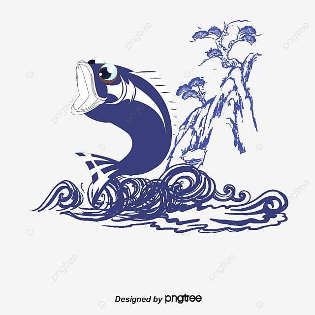 Dessin Carpe Japonaise le bleu de la carpe le japon d éléments la main de la carpe dessin
