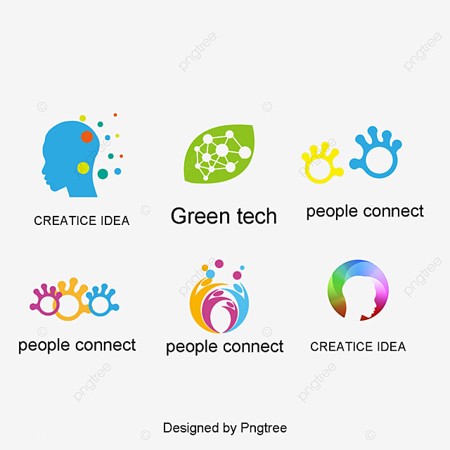 exquisite color personalized logo design vector material graphics logo design ideas logo corporate - Company Logo Design Ideas