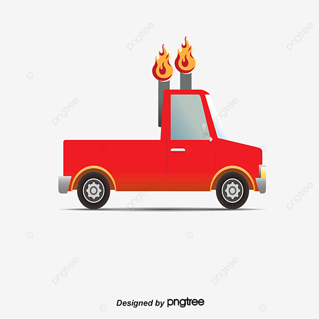 Vector Cartoon Pickup Truck Pickups Trucks Car PNG And
