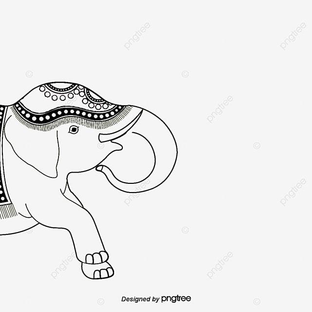 Силуэт слон