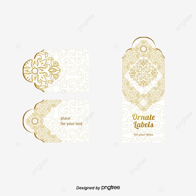 Or De Motif Fleur Dcoration Cartes Visite Une Carte PNG