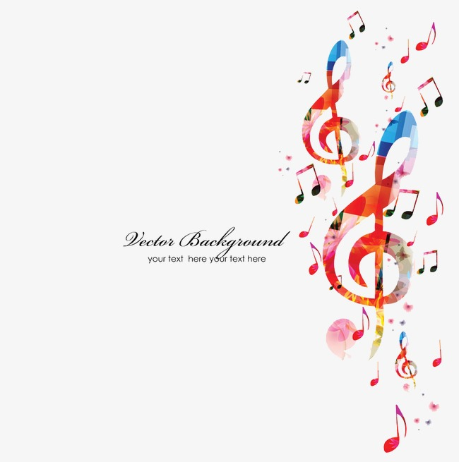 Vector Musical Notes Background Note Background Notes