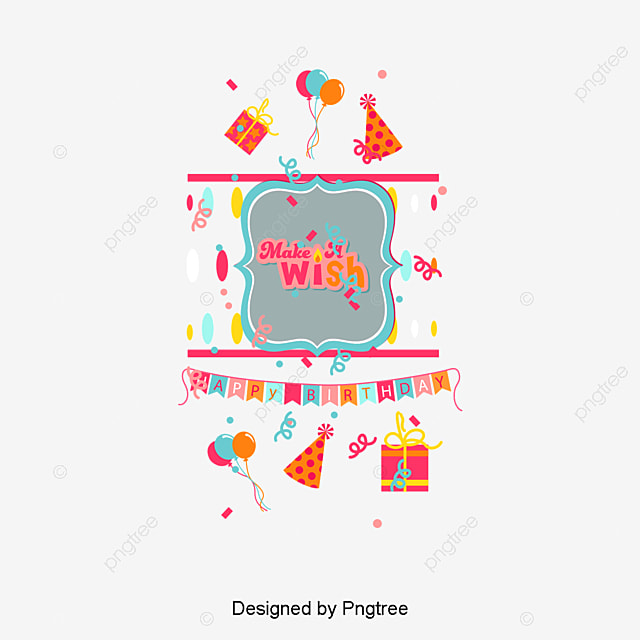 Vector Birthday Card Clipart Happy Greeting Cards PNG And PSD