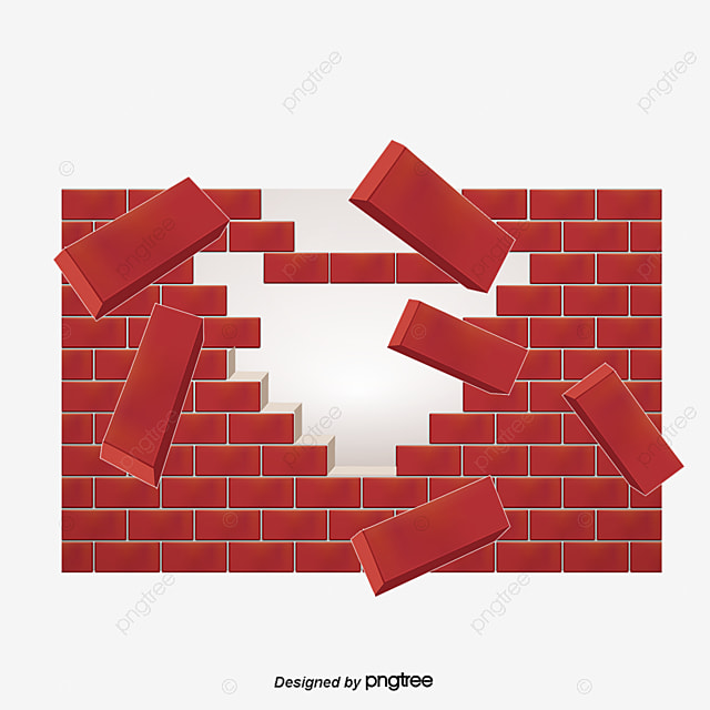 Wall Effect Png Images Vectors And Psd Files Free Download On Rh Pngtree Com Breaking Through Brick Clipart