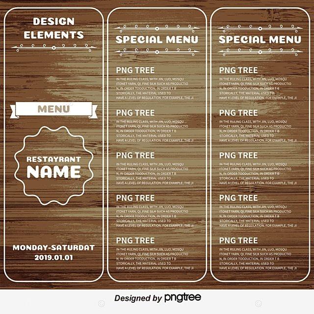 shading vector wooden folding menu hotel recipes hotels menu menu