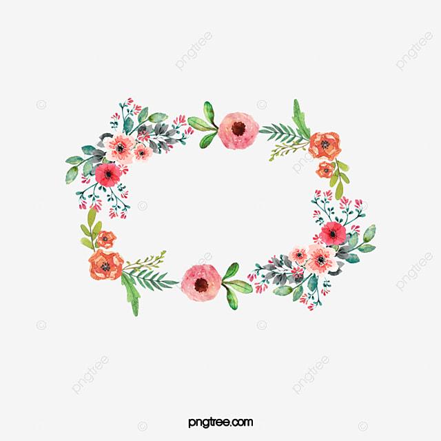 Moldura De Flores Plantas As Folhas Flores Png Imagem Para