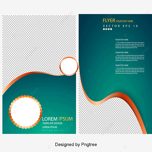 vector curve circle business flyer folding leaflets enterprise