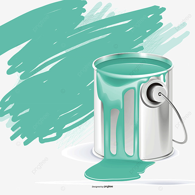 Cubo de pintura y pincel brocha verde verde pintura cubo de pintura png y vector para descargar - Brochas pintura ...