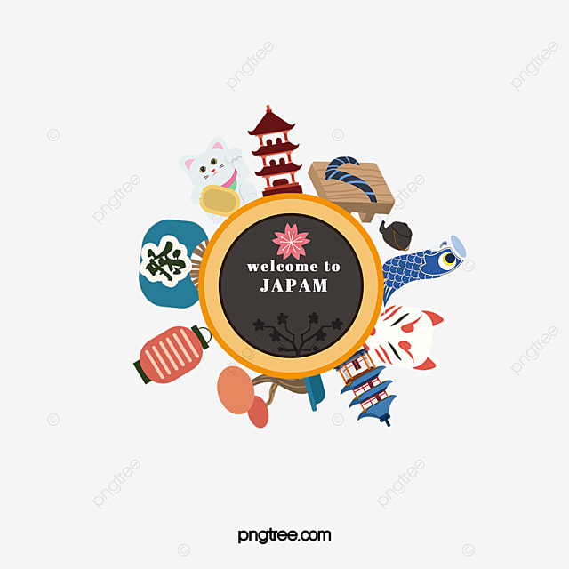 japanese element decoration vector japan png and vector for free rh pngtree com japanese vector design japanese vector design