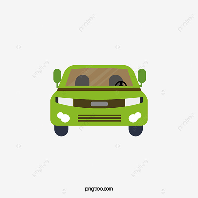 vector car car clipart green car car front view png and