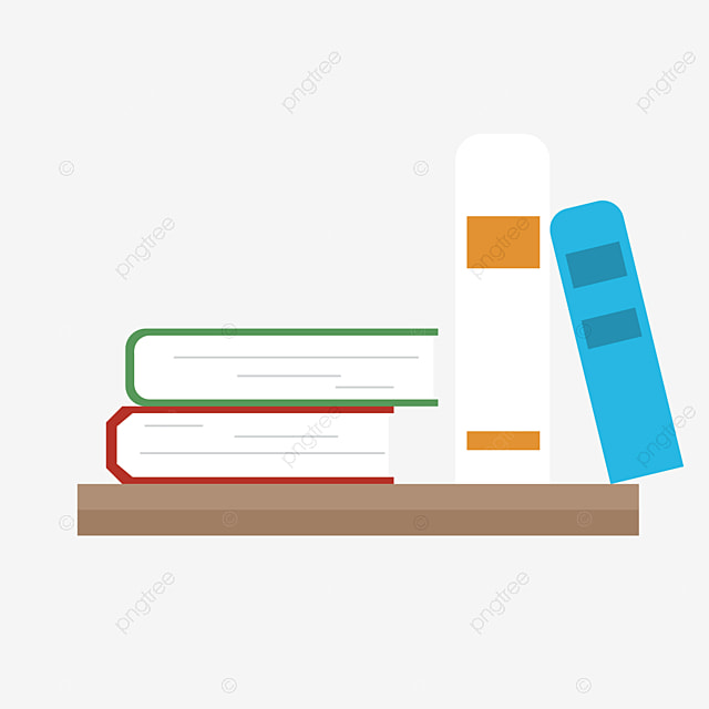 Books On The Shelves Bookshelf Book Vintage PNG Image And Clipart